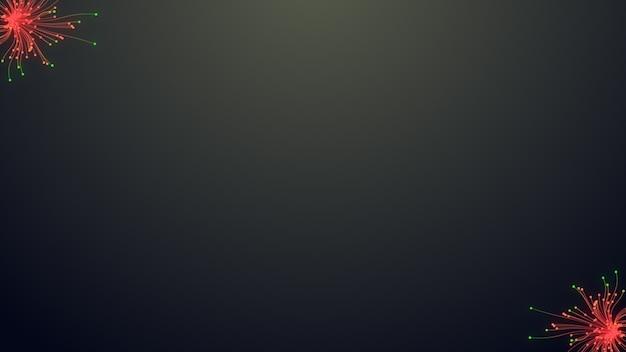 Zwei bunte partikel linie, leuchtende linien und helle partikel auf dunkler animation Premium Fotos