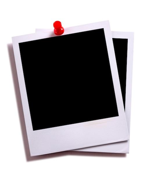 Zwei Instant-Fotodrucke mit Pushpin | Download der kostenlosen Fotos