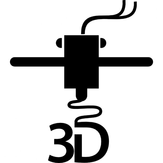 3d printer printing letters Icons | Free Download