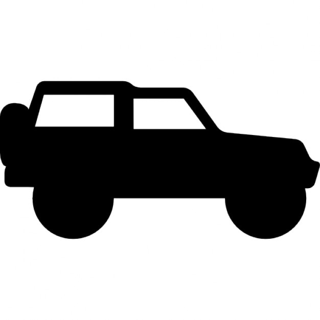 4x4 adventure sportive transport side view icons free