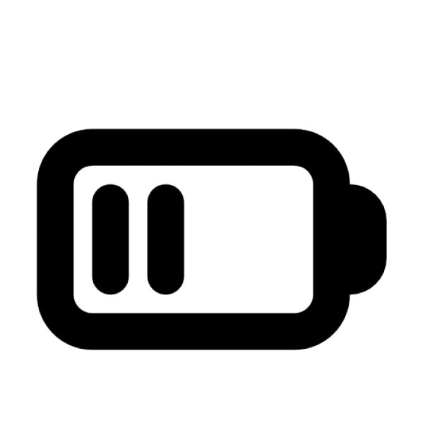 バッテリー半ば 無料アイコン