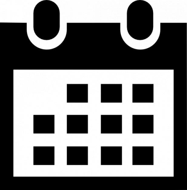 Простой календарь Бесплатные Иконки