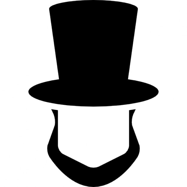Abraham Lincoln Hat And Beard Shapes Icons Free Download
