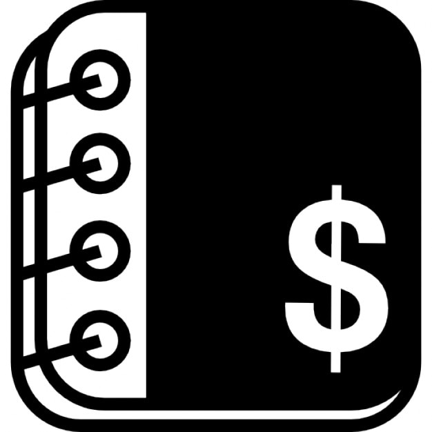 Accounting Notebook With Rings And Dollars Symbol Free Icon