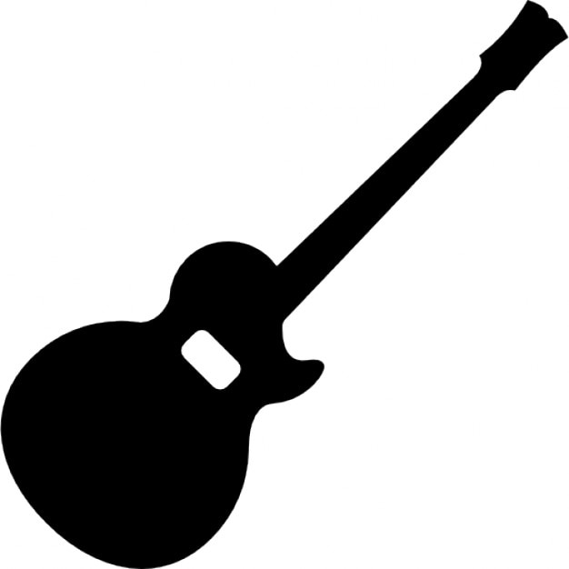 acoustic guitar silhouette icons free download
