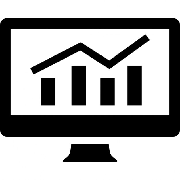 Analytics graphic on screen icons free download Free eps editor