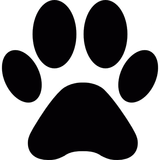animal paw print shape icons free download rh freepik com vector paw print vector dog paw print clip art free