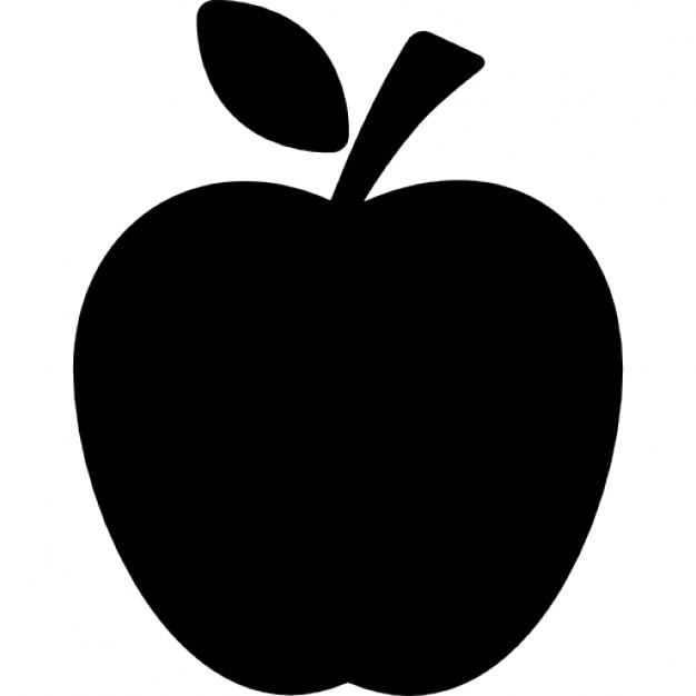 apple black silhouette with a leaf icons free download rh freepik com apple icon vector png apple store icon vector