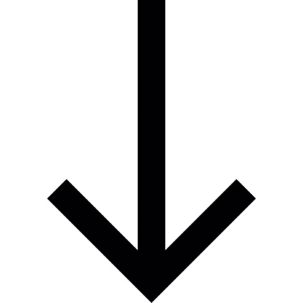 Arrow Down To Bottom Ios 7 Interface Symbol Icons Free Download