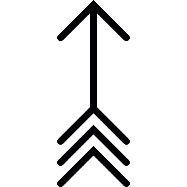 Arrow Of Indian Style Pointing Up Icons Free Download