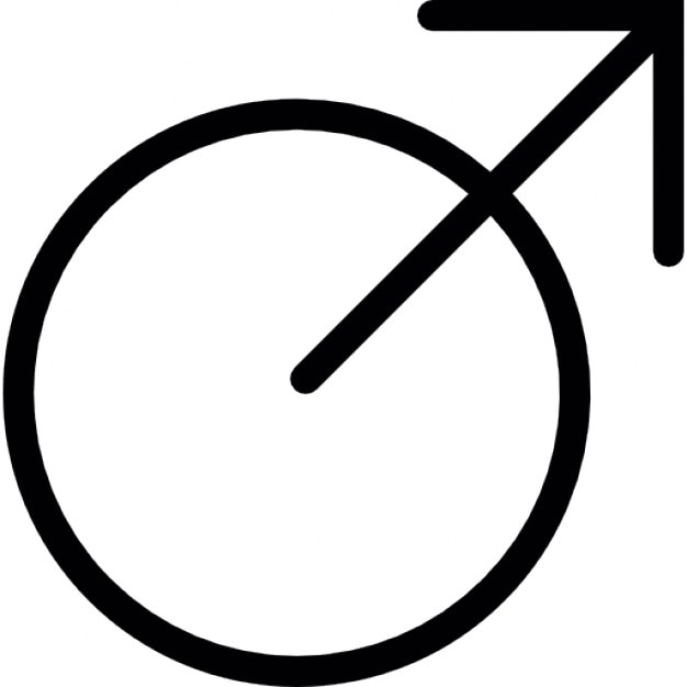 Arrow On A Circle Like A Variant Of Male Symbol Icons Free Download