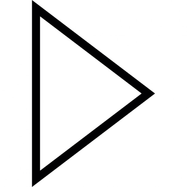 Arrow Point Triangular Outline Pointing Right Icons Free Download