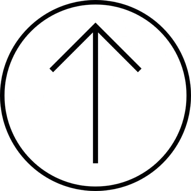 Arrow Up Inside A Circle Outline Ios 7 Symbol Icons Free Download