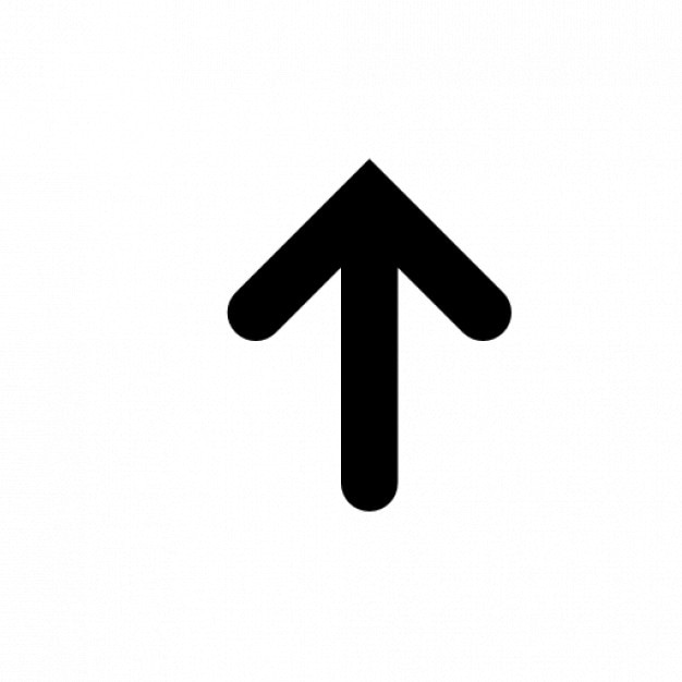 La freccia verso l'alto | Icona Gratis