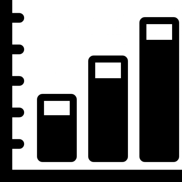 Ascending Business Stats Graphic Icons