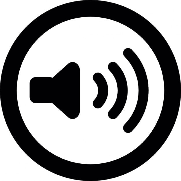 Audio speaker with sound waves in a circular outline icons free audio speaker with sound waves in a circular outline free icon sciox Gallery