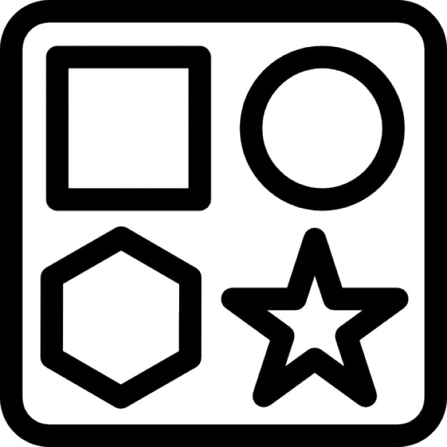 Baby shape box toy Icons | Free Download