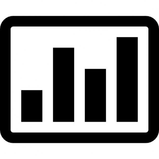 Bar graph on a rectangle Icons | Free Download