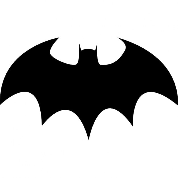 Bat with sharp wings silhouette icons free download - Murcielago para imprimir ...