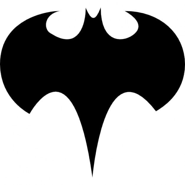 Batman Logo Silhouette Free Icon