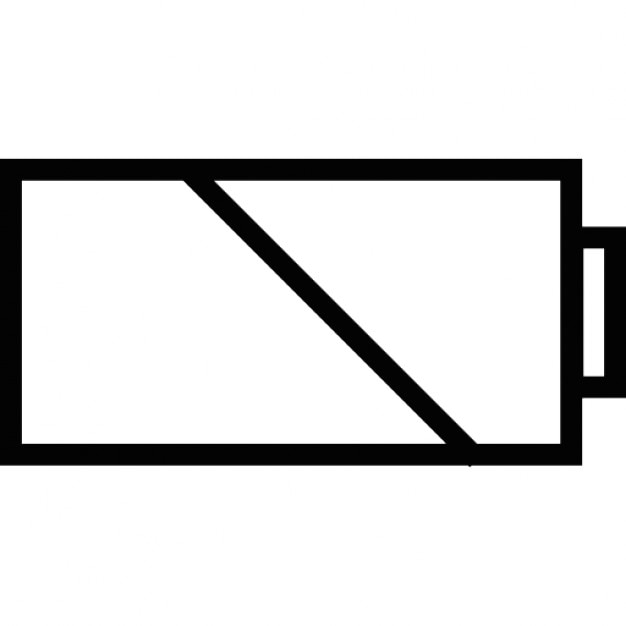 Battery charge, IOS 7 interface symbol Icons | Free Download