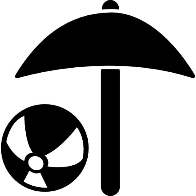 Beach Umbrella And Beach Ball Icons Free Download