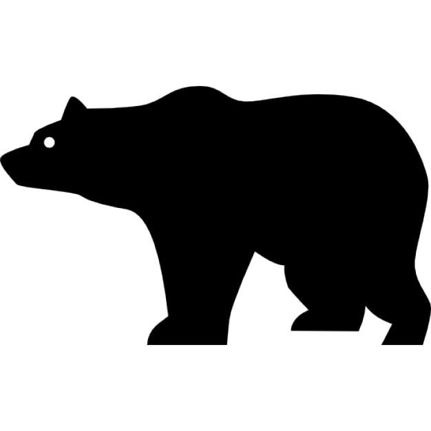 bear side view silhouette icons free download rh freepik com bear vector graphic bear tattoo vector