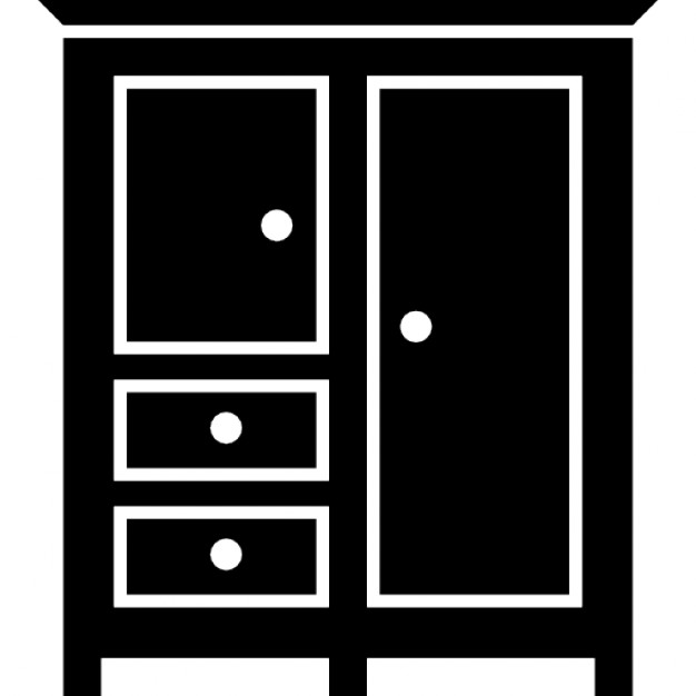 Bedroom Black Closed Closet For Clothes Icons Free Download