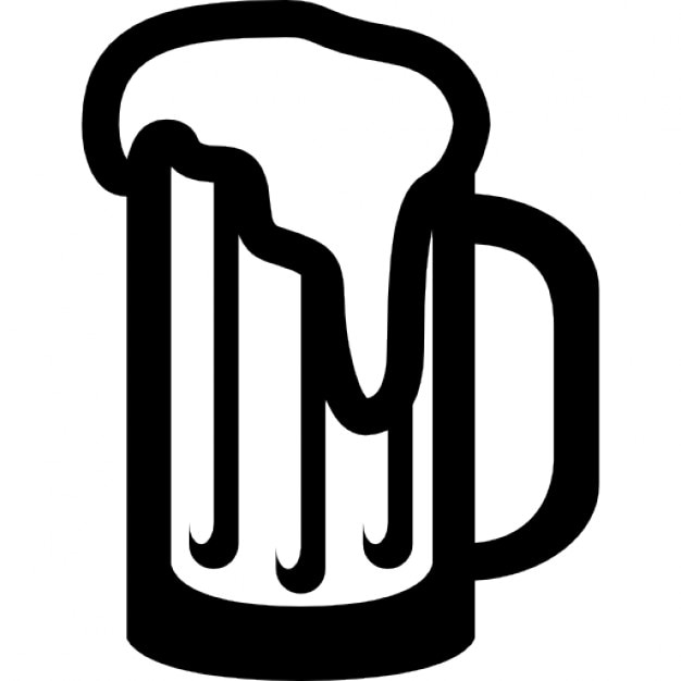 The gallery for --> Beer Mug Vector Black And White