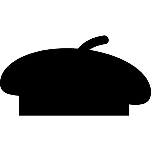 beret black shape icons free download rh freepik com French Hat Cartoon Baker Chef Clip Art