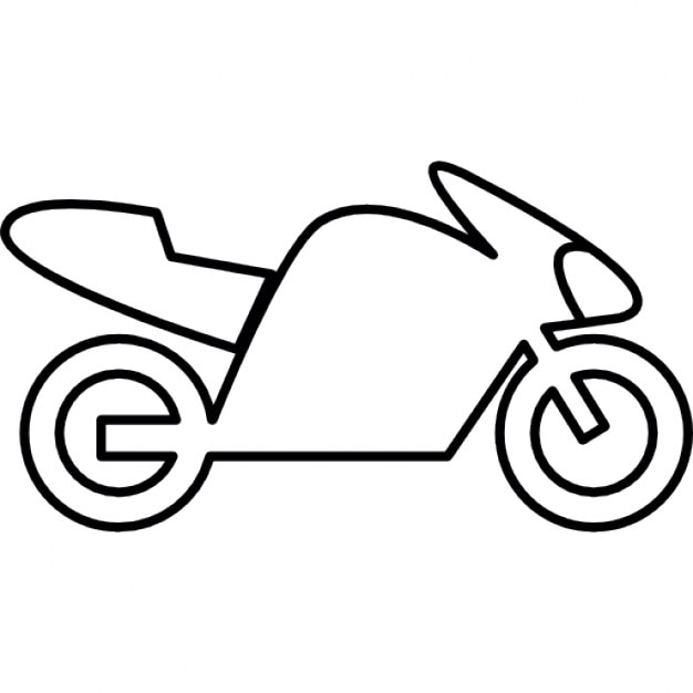 Bike with motor, IOS 7 interface symbol Icons | Free Download