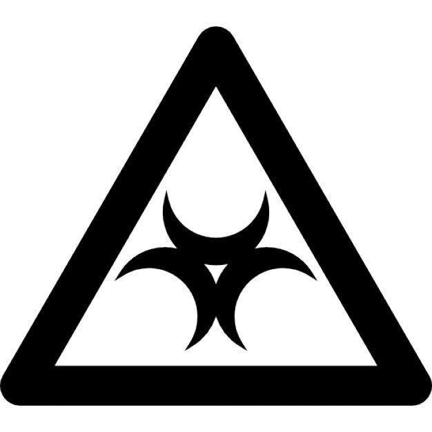Biohazard Sign Inside A Triangle Outline Icons Free Download