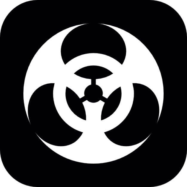 Biohazard Symbol On Square Background Icons Free Download