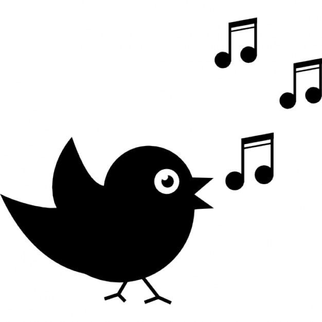 bird singing with musical notes icons free download rh freepik com Music Note Clip Art Single Music Notes