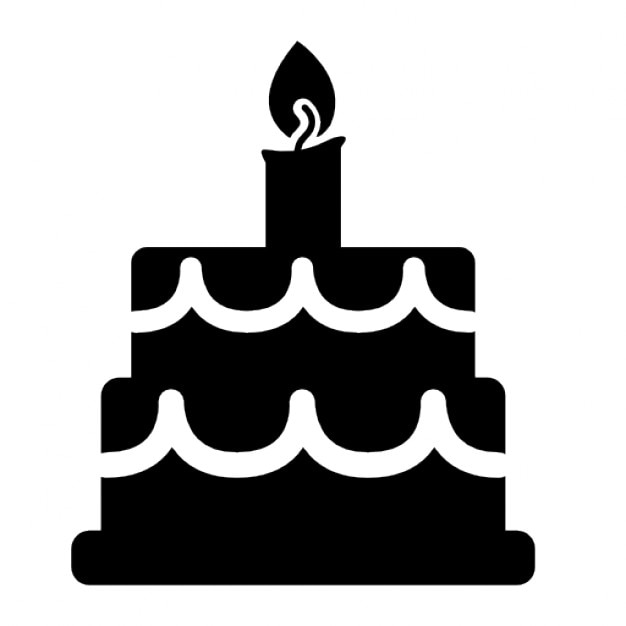 birthday cake symbol icons