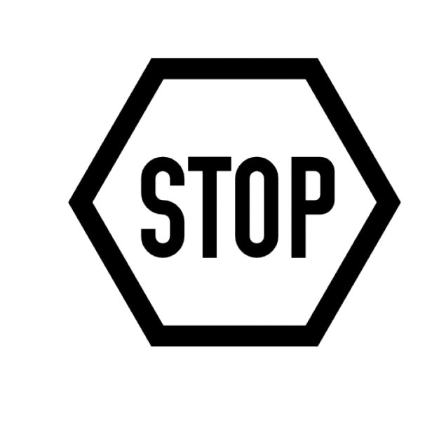 black and white stop sign icons | free download