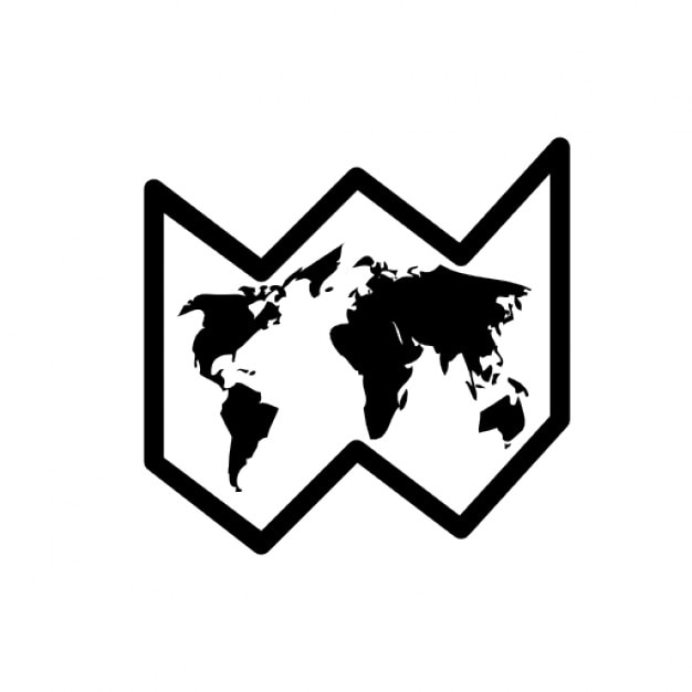 Black and white world map icon icons free download black and white world map icon free icon gumiabroncs Images