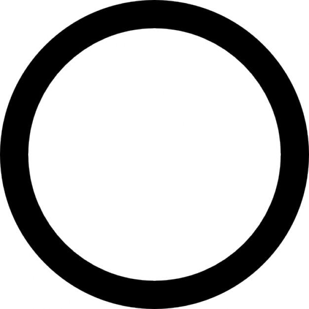 Free Icon | Black circle on white