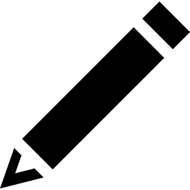 Black diagonal pencil Icons | Free Download