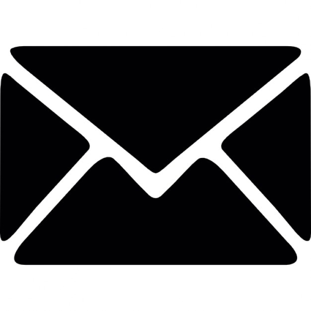 Black envelope with white outline Icons | Free Download