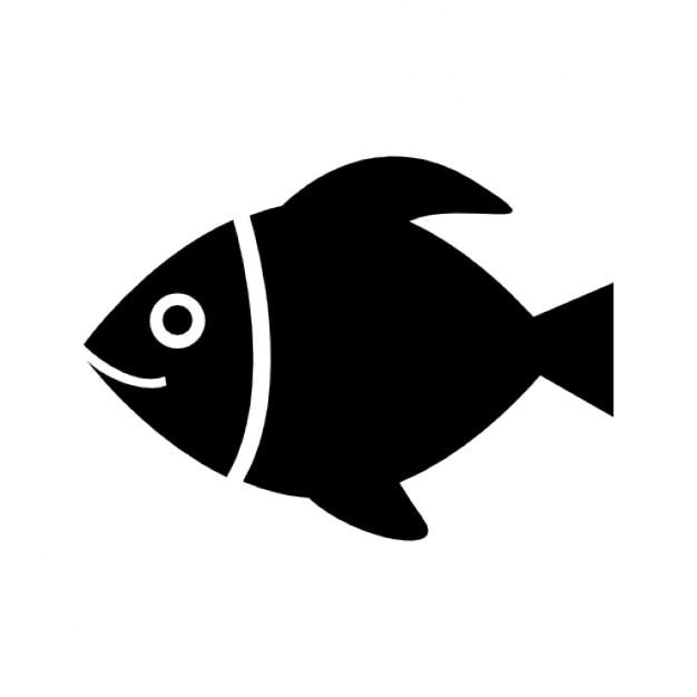 Black fish sketch vector Free Icon