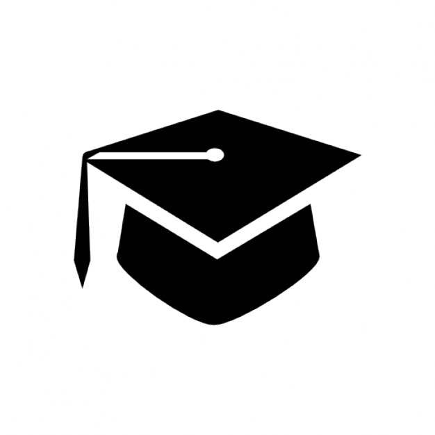Black graduation icon Icons | Free Download