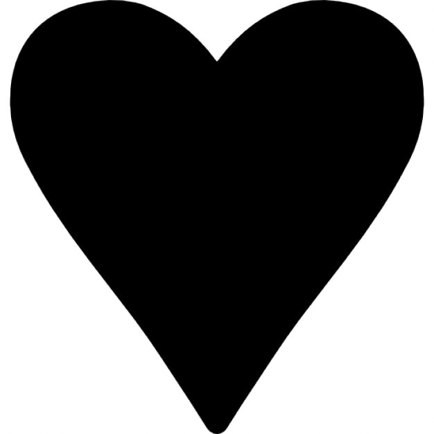 black heart love symbol icons free download