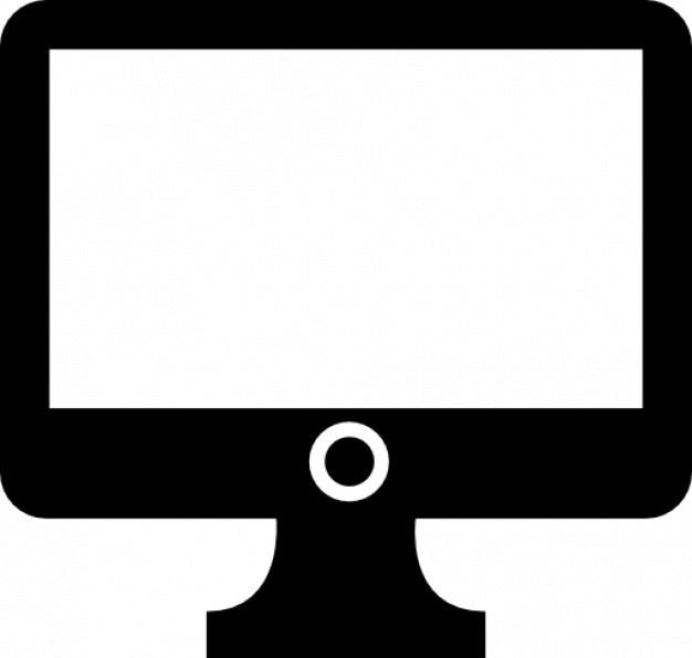 Black iscreen computer Free Icon