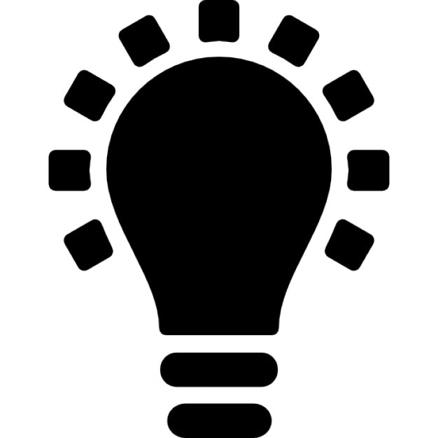 Black Lightbulb Symbol Icons Free Download