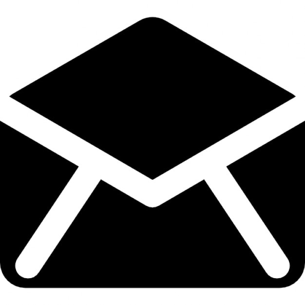 Black open envelope back Icons | Free Download Open Envelope Icon