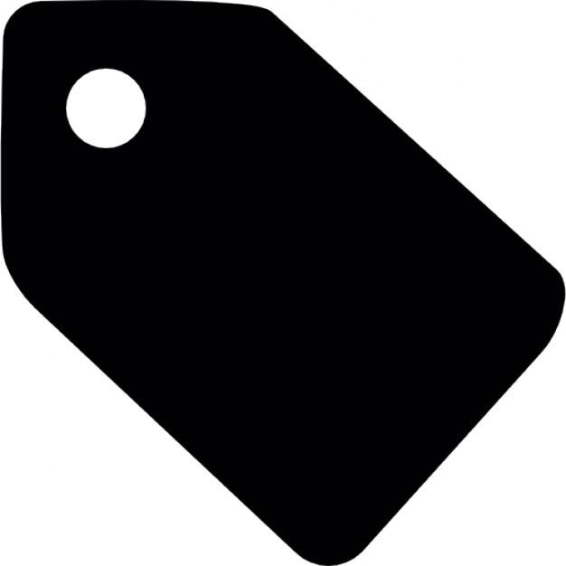 Price Black Label >> Black paper tag Icons | Free Download