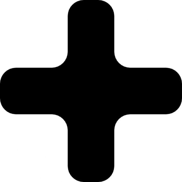 black plus sign icons free download