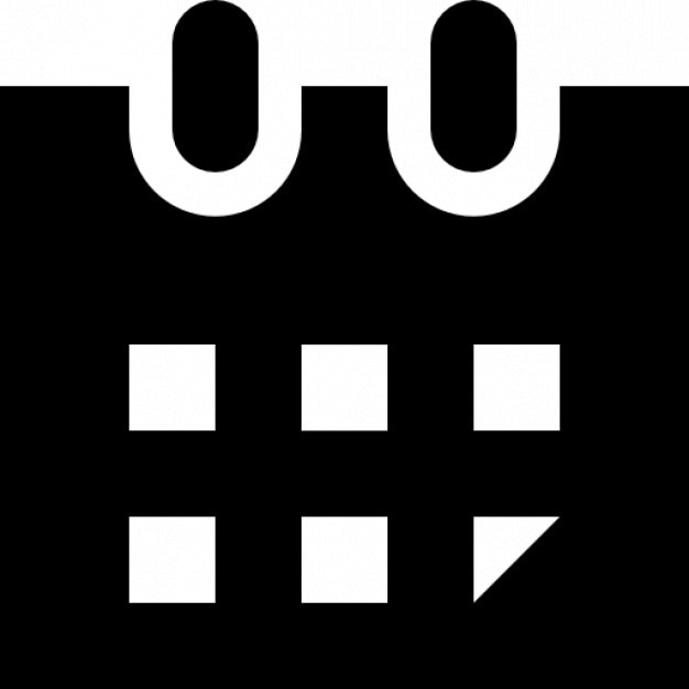 Calendario Vector Blanco.Black And White Calendar Sketch Vector Icons Free Download