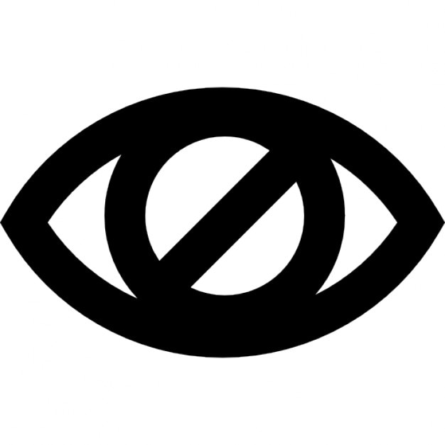 Blind Eye Sign Icons Free Download